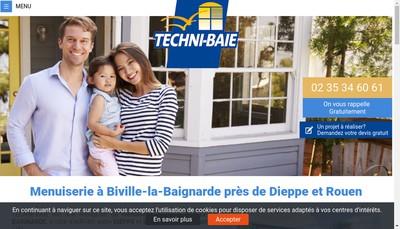 Site internet de Techni' Baie