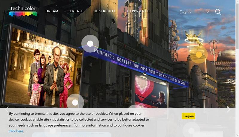 Capture d'écran du site de Technicolor Connected Home Rennes