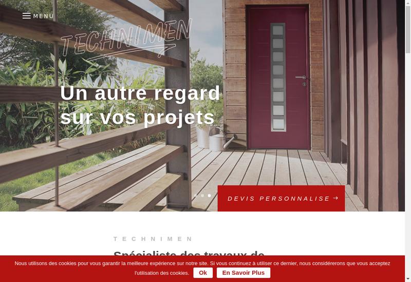 Capture d'écran du site de Technimen