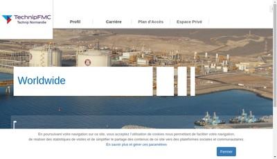 Site internet de Technip Normandie