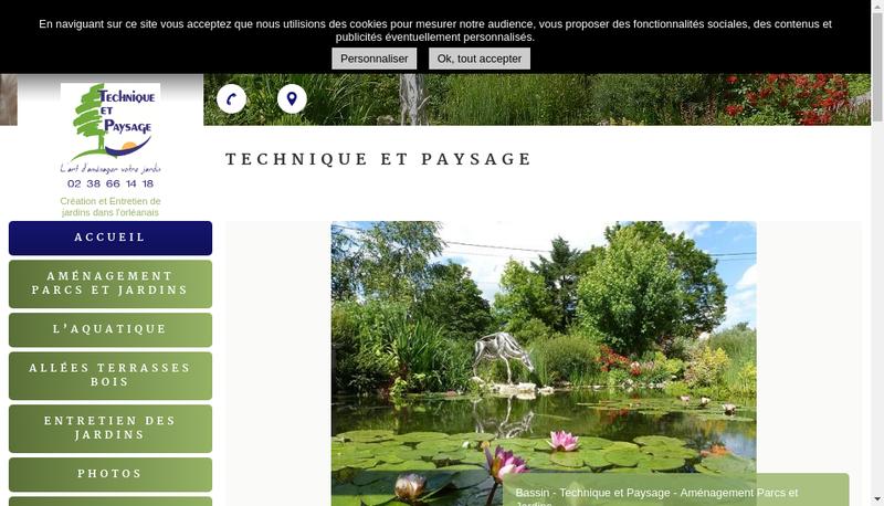 Capture d'écran du site de Services et Paysage