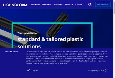 Site internet de Technoform Bautec France