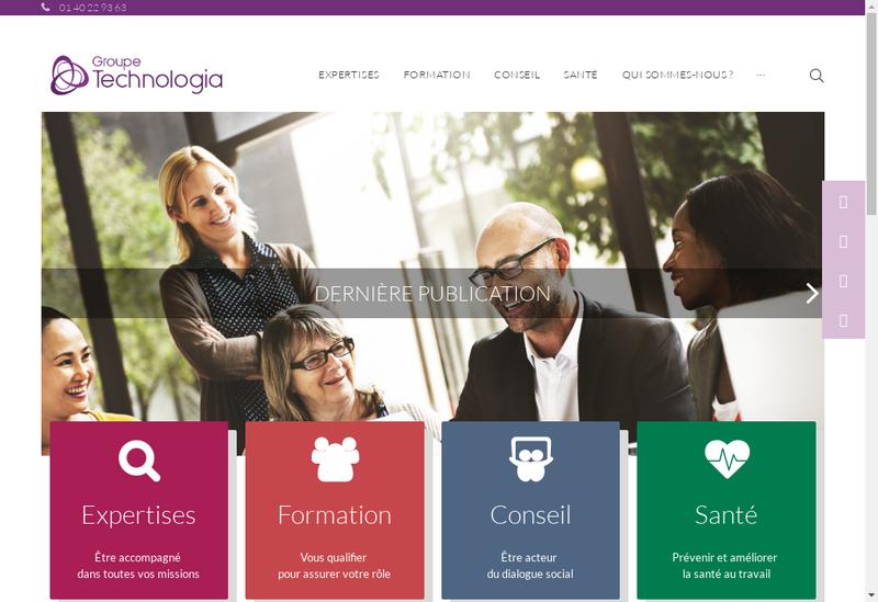Capture d'écran du site de Technologia SA