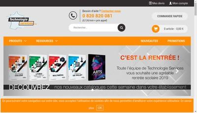 Site internet de Technologie Services Xynops