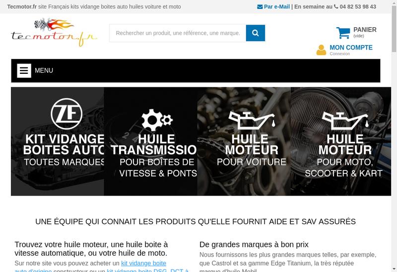 Capture d'écran du site de Zarago.fr/Tecmoto.fr