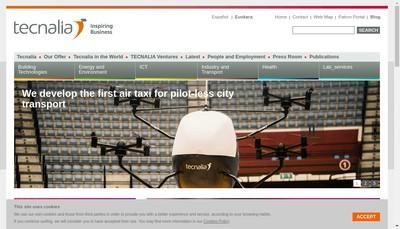 Site internet de Tecnalia France