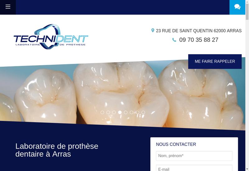 Capture d'écran du site de Technident