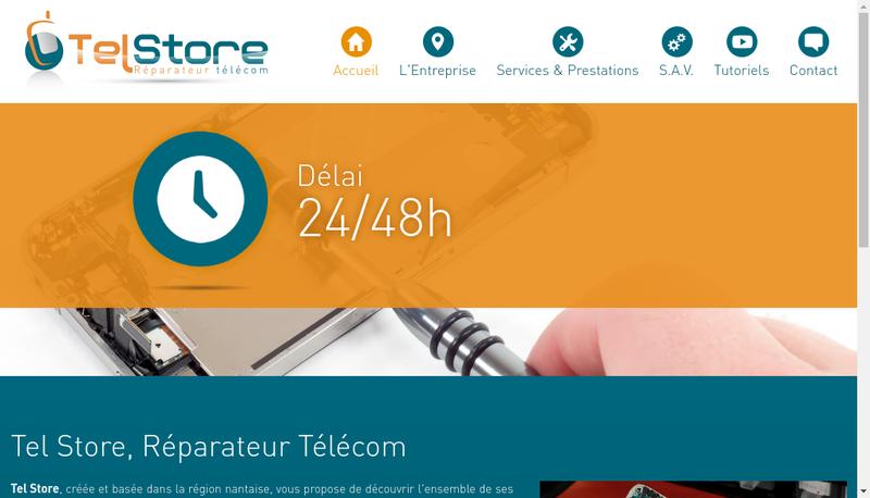 Capture d'écran du site de Tel Store