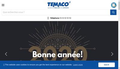 Site internet de Temaco Contenants