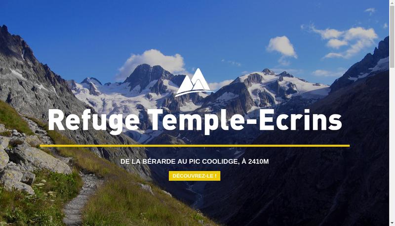 Capture d'écran du site de Refuge Temple Ecrins