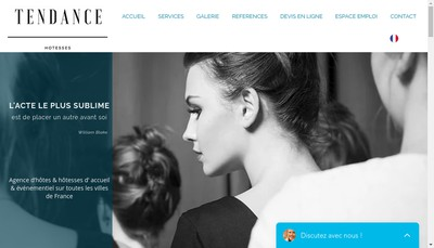 Site internet de Topcasting Net Ou Tendance Hotesses