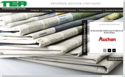 Site internet de Athis Environnement Recyclage (AE