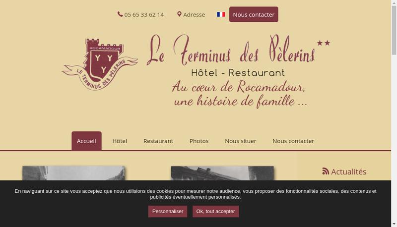 Capture d'écran du site de Le Terminus