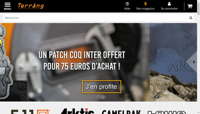 Capture d'écran du site de Terrang Mp Sec France