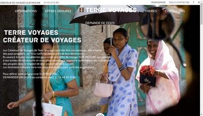 Site internet de Fleuves du Monde Terre Voyages