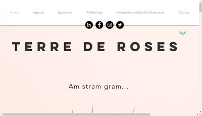 Site internet de Terre de Roses