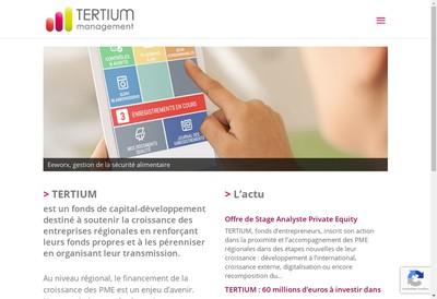 Site internet de Tertium Management