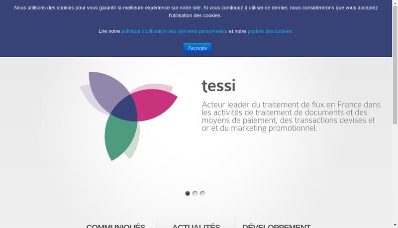 Capture d'écran du site de Tessidata