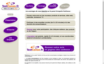 Site internet de Testconso