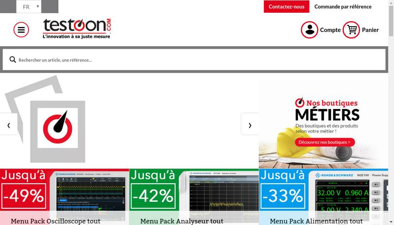 Capture d'écran du site de Testoon