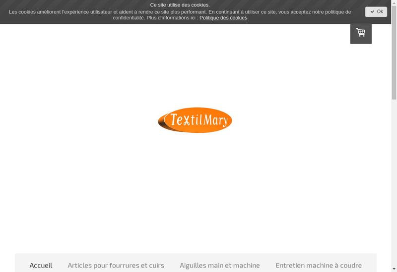 Capture d'écran du site de Textilmary