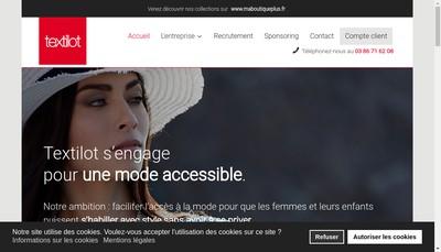 Site internet de Textilot
