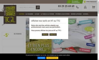 Site internet de Tissus Gisele