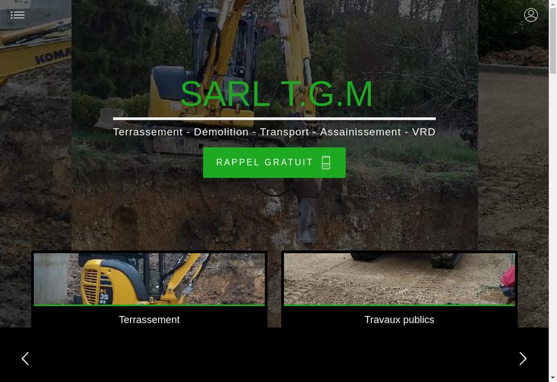 Capture d'écran du site de TGM