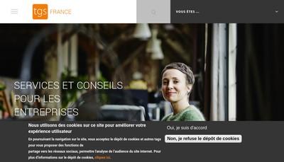 Site internet de Tgs France Consultants