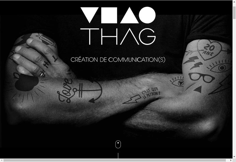 Capture d'écran du site de THAG