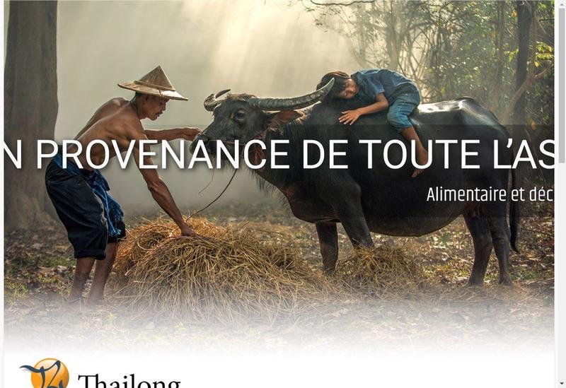 Capture d'écran du site de Thailong