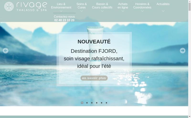 Capture d'écran du site de Thalasso la Baule les Pins