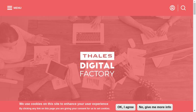 Capture d'écran du site de Thales Digital Factory SAS