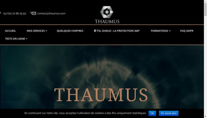 Capture d'écran du site de Thaumus