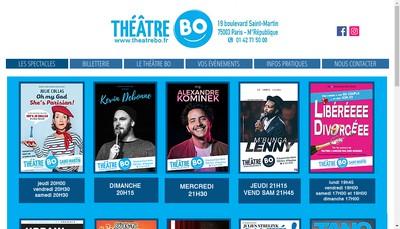 Site internet de Theatre Bo Saint Martin