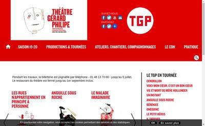 Site internet de Theatre Gerard Philipe