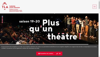 Site internet de Theatre Louis Aragon