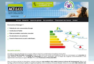 Capture d'écran du site de Theault
