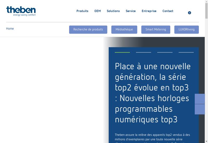 Capture d'écran du site de Theben