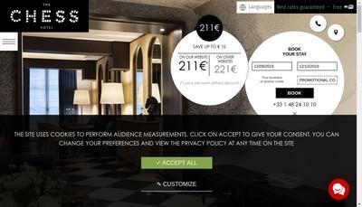 Site internet de The Chess Hotel