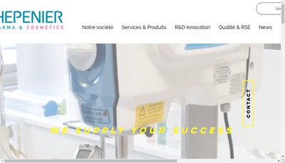Site internet de Thepenier Pharma et Cosmetics