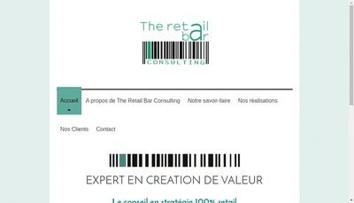 Site internet de The Retail Bar Consulting