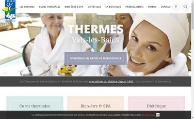 Site internet de Societe des Thermes de Vals les Bains