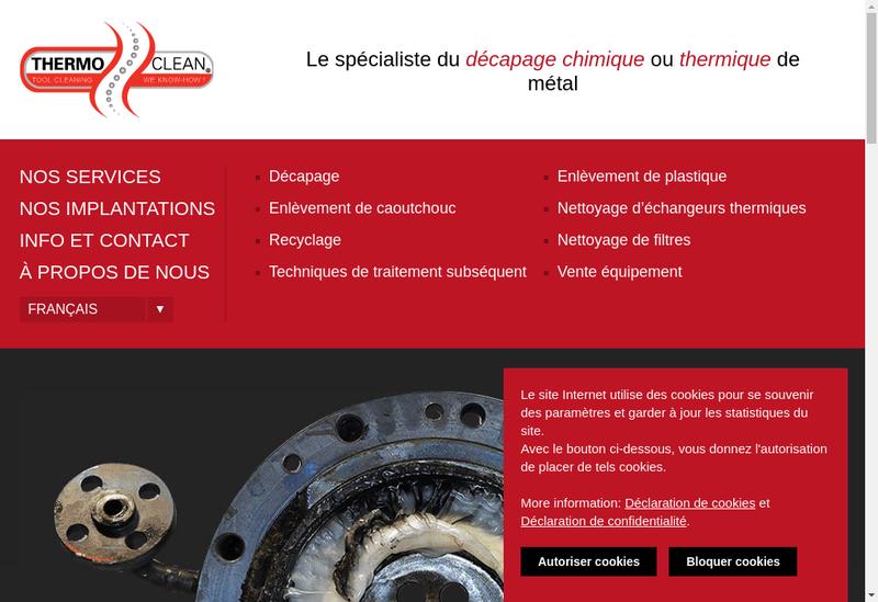 Capture d'écran du site de Thermo Clean Rhone Alpes