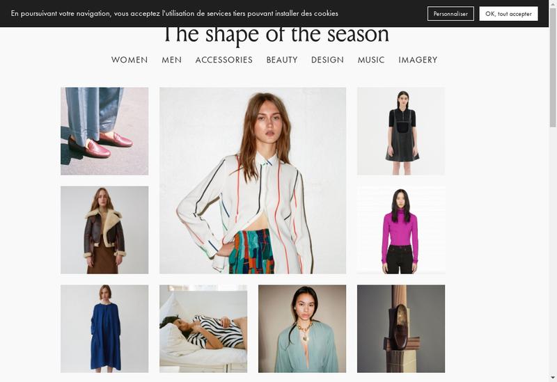 Capture d'écran du site de The Shape Of