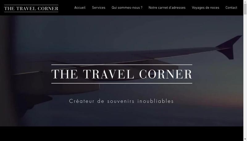 Capture d'écran du site de The Travel Corner