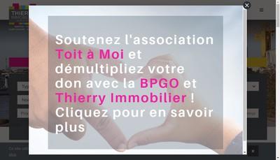 Site internet de Thierry Immobilier Atlantique
