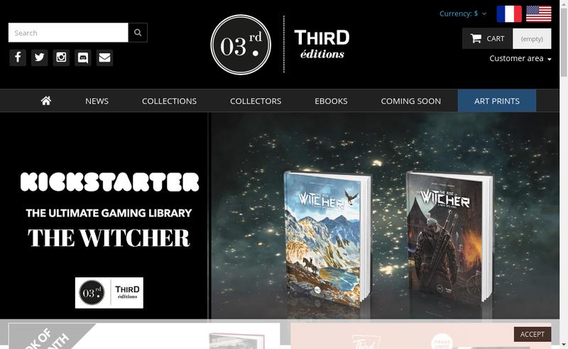 Capture d'écran du site de Third Editions