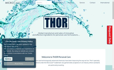 Site internet de Thor Personal Care SAS