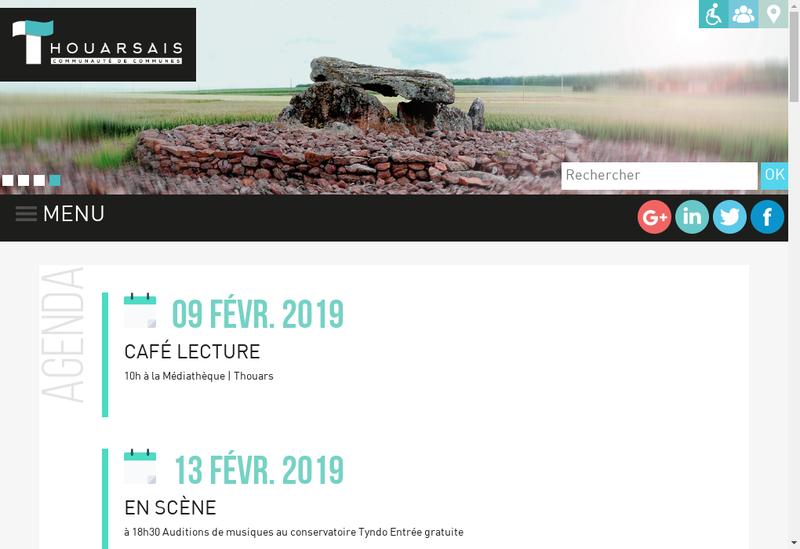Capture d'écran du site de Express Communication